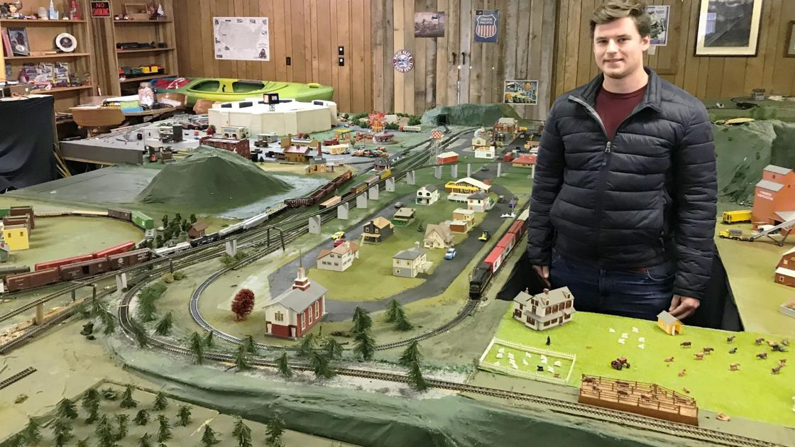 Ben Houser's artistic talent shines through with massive model railroad layout