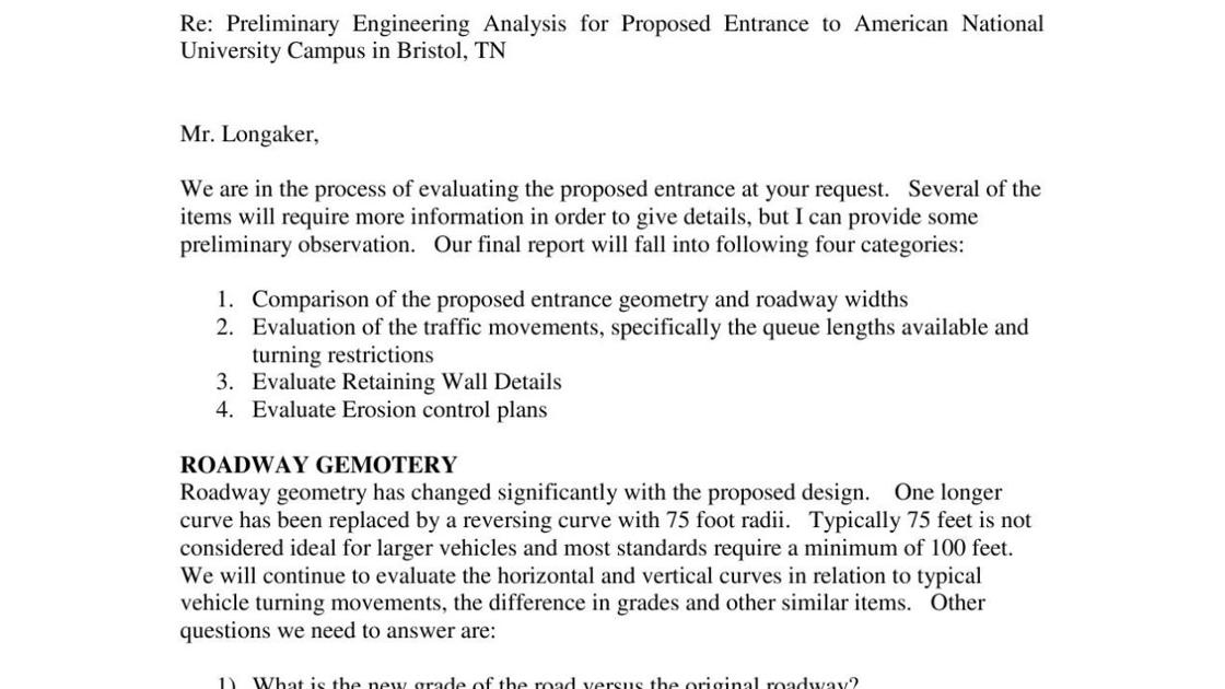 National Business College Engineer Evaluation