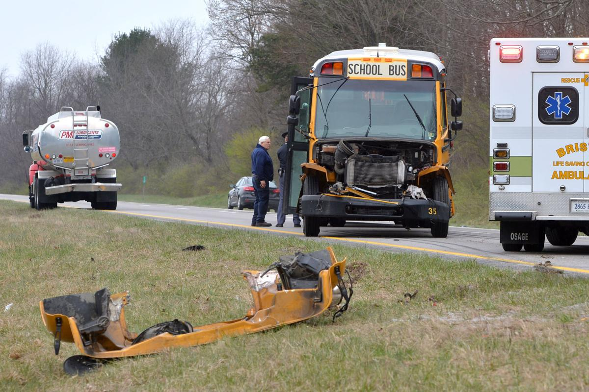 Giles County school bus involved in crash on Interstate 81