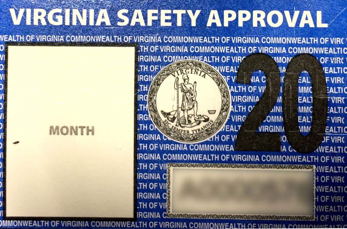 Va  vehicle inspection stickers have new look | News