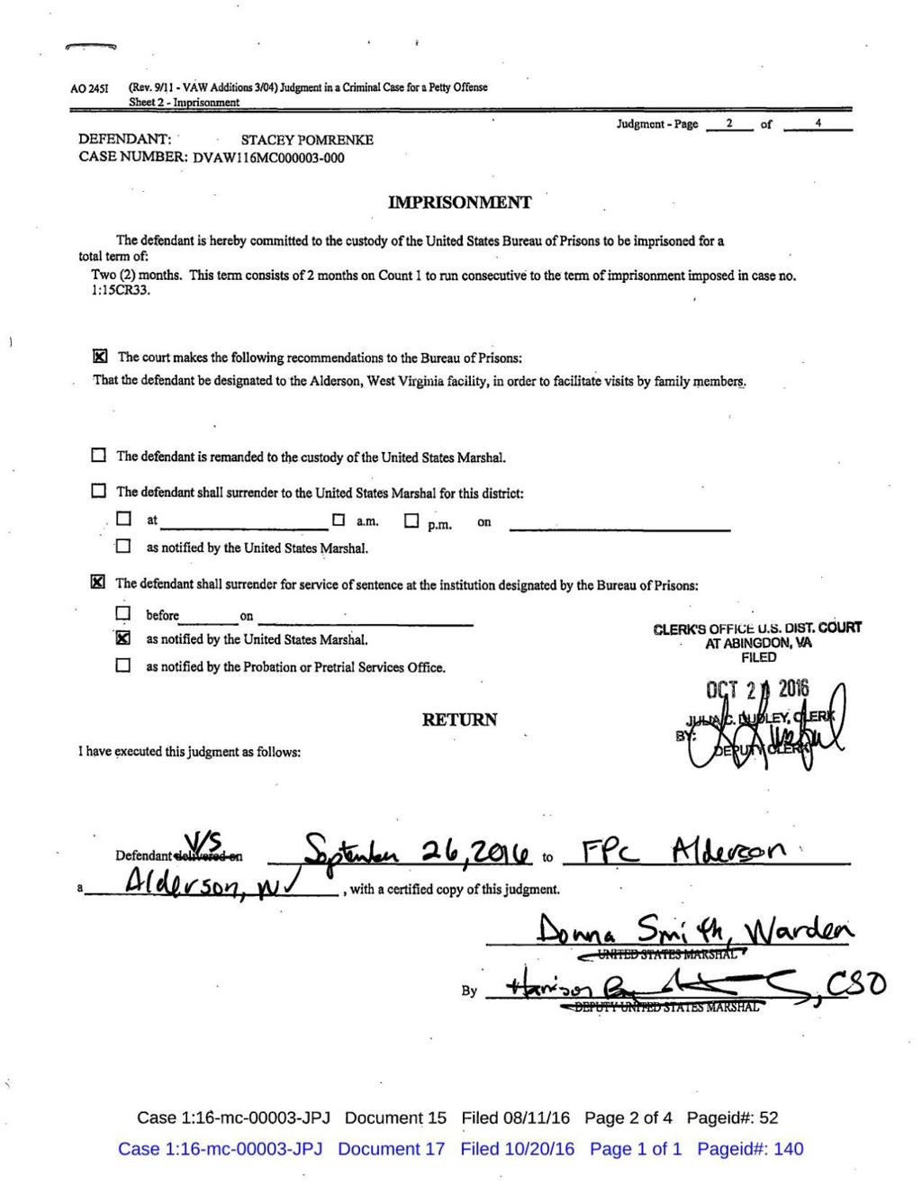 Pomrenke receives reduced sentence | News | heraldcourier com