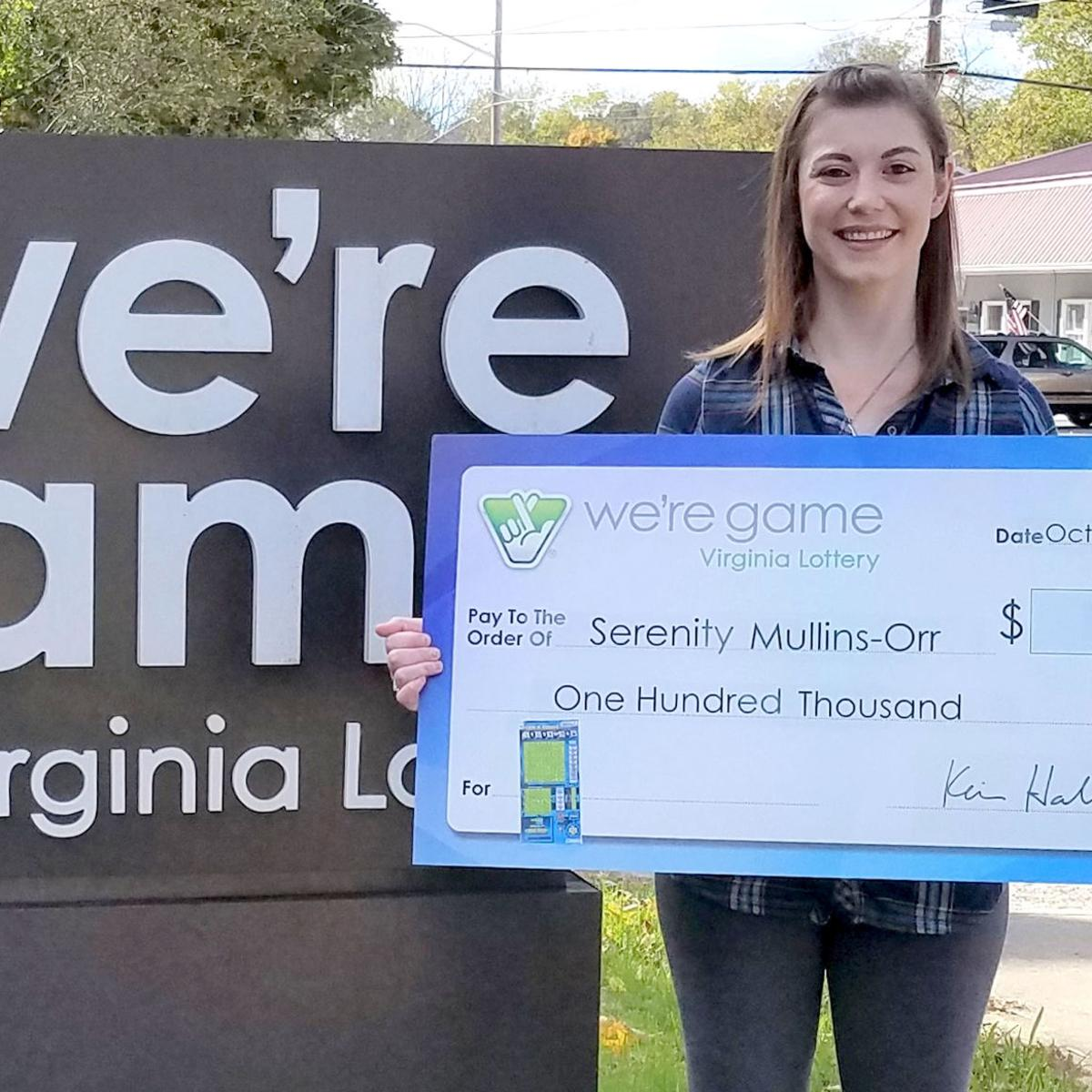 Abingdon woman wins $100,000 from Virginia Lottery scratch