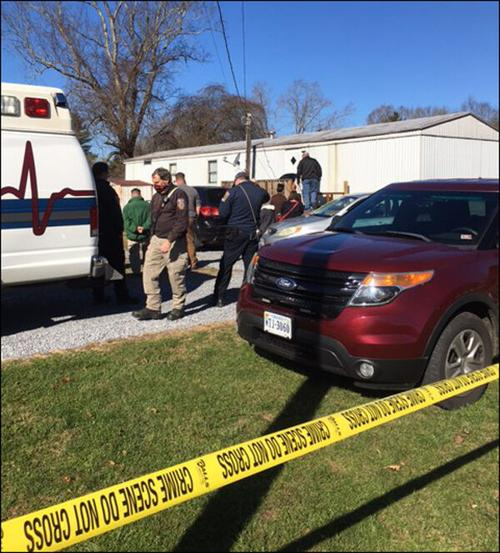 Scene of homicide investigation in Smyth County