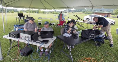 Local amateur radio operators participate in annual contest