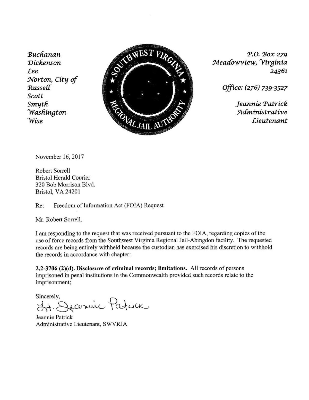 Use Of Force Records Refusal In Foia Request Heraldcourier