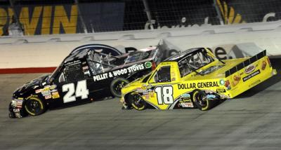 Busch and Sadler wreck at BMS