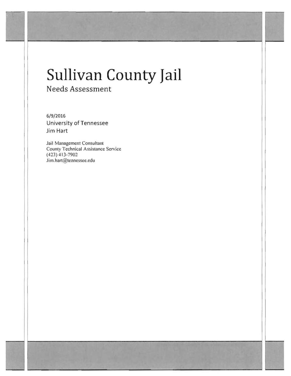 Needs Assessment Report from Jim Hart