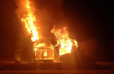 Saltville Highway house fire, January 14, 2020