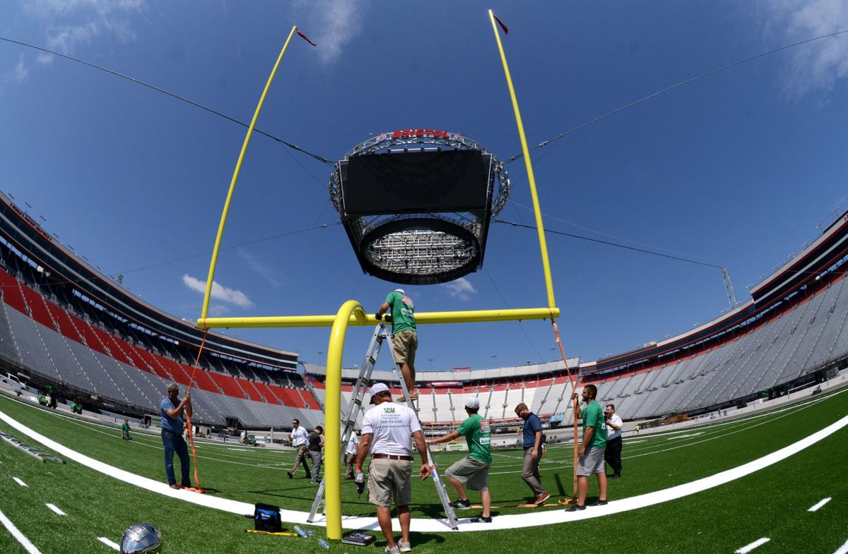 Conversion of Bristol Motor Speedway into football field right on time