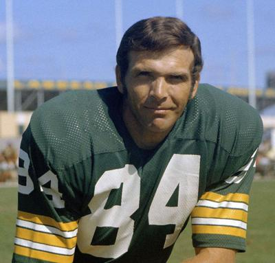 bd91deed5 Carroll Dale was on the Green Bay Packers team which won the first two  Super Bowls.