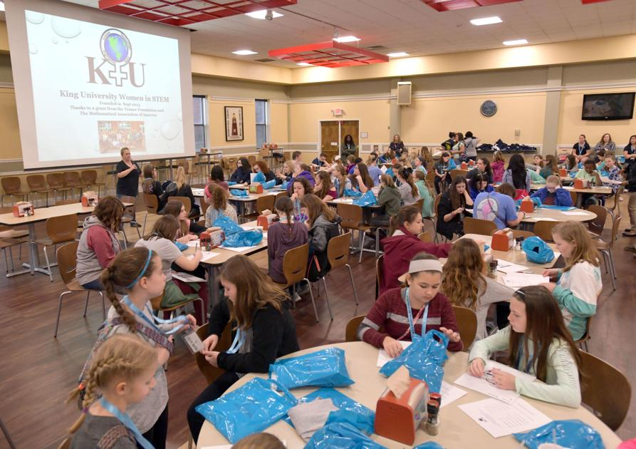 Middle school girls participate in science, math projects at King