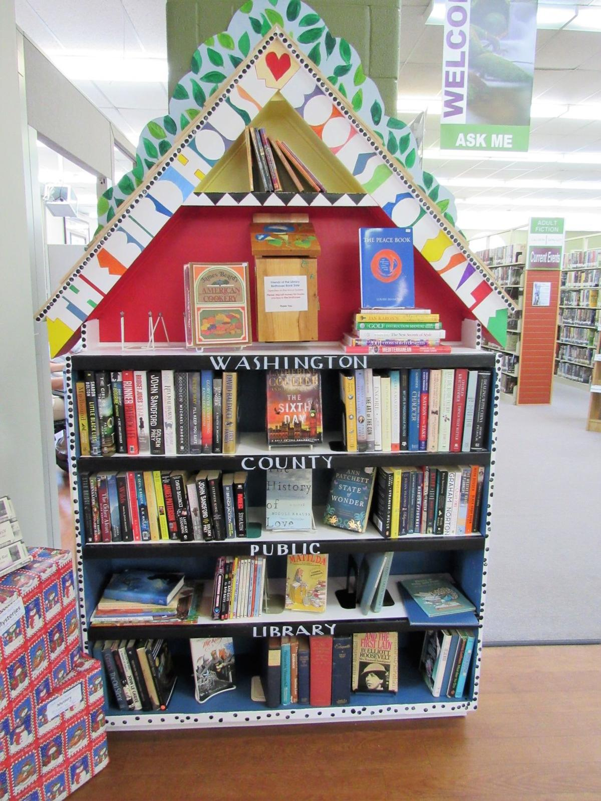 Librarys Year Round For Sale Bookshelf Gets Makeover To Boost Sales