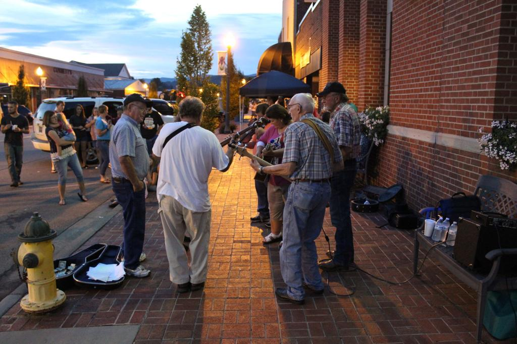Busking and fiddling over long Labor Day weekend