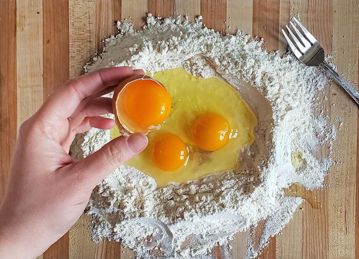 Homemade pasta well