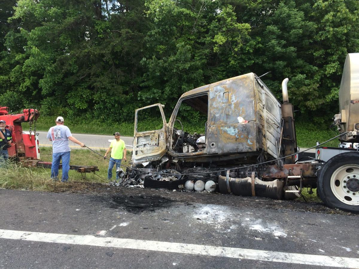 I-81 south in Abingdon now open, tanker truck caught fire