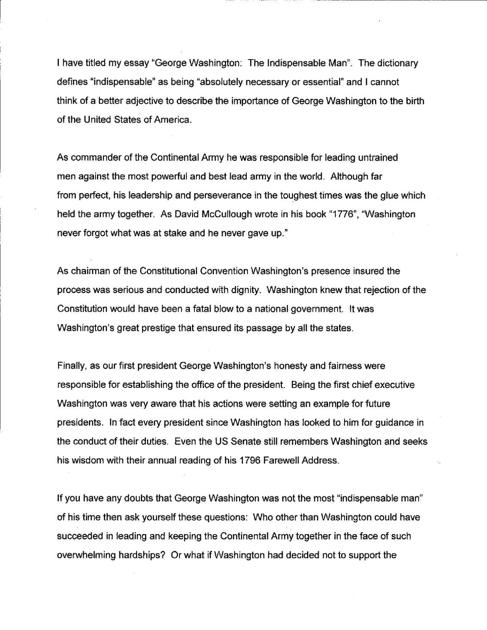 George Washington Essay Winnerpdf   Heraldcouriercom