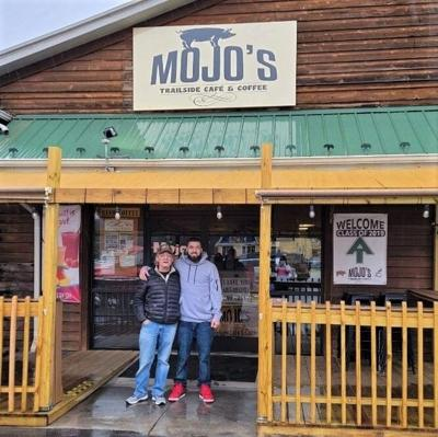 Father and son at Mojo's