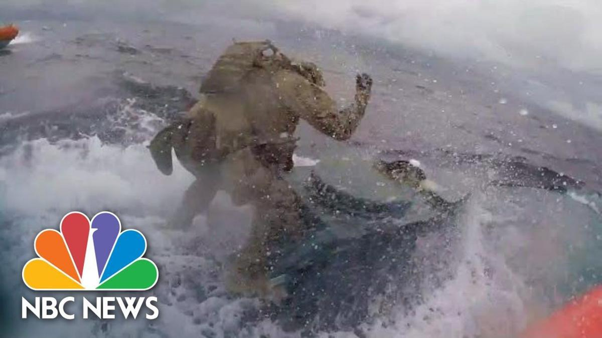 Watch: U S  Coast Guard Crew Leaps Onto Drug Smuggling Vessel | NBC News