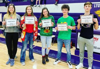 LCHS December student honors