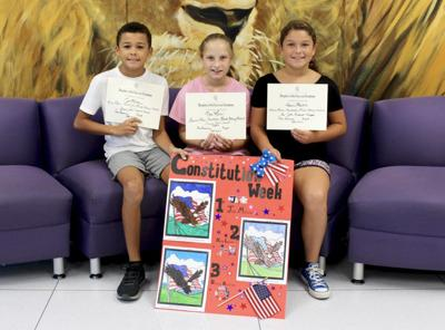 DAR awards Constitution Week coloring contest winners