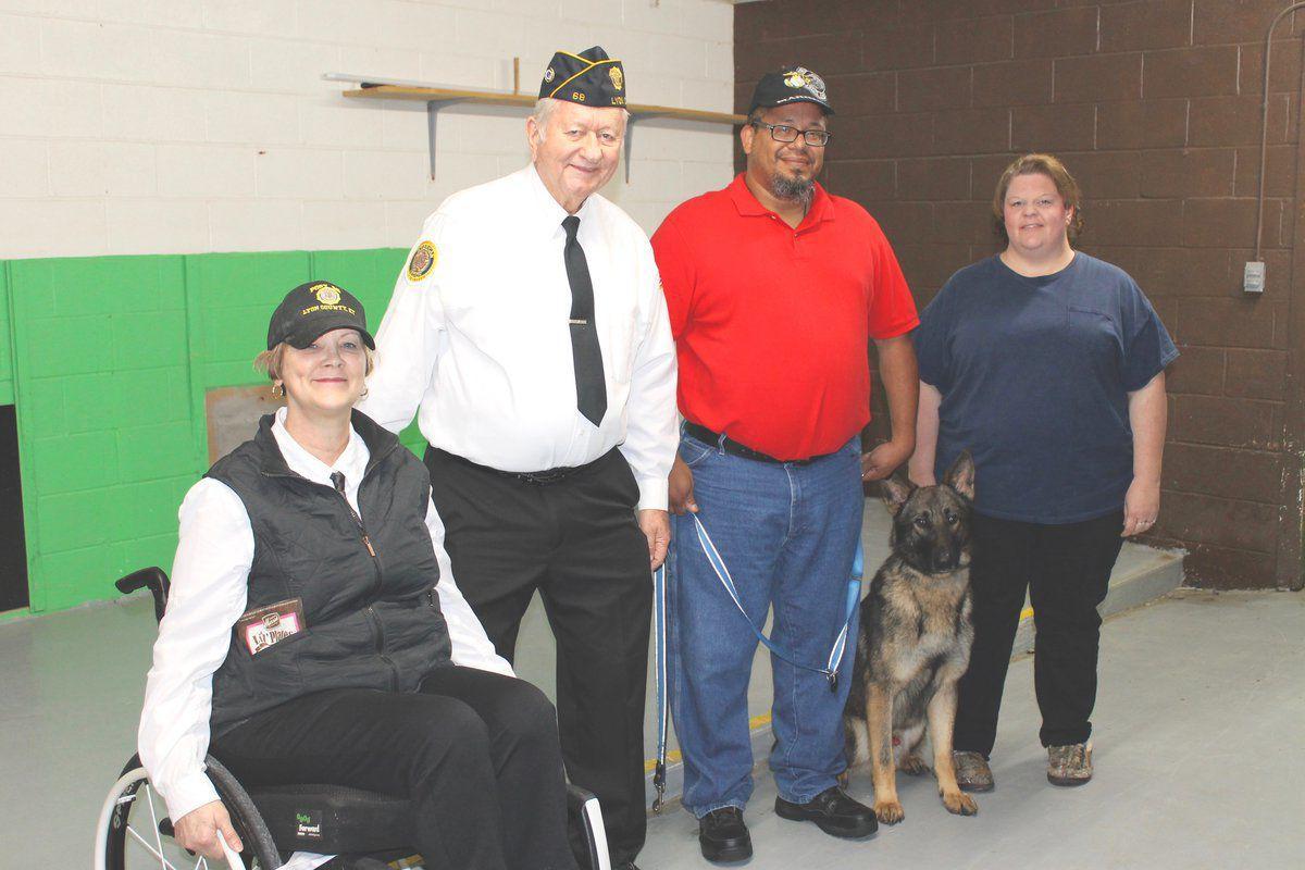 Eddyville man helped through American Legion PTSD dog