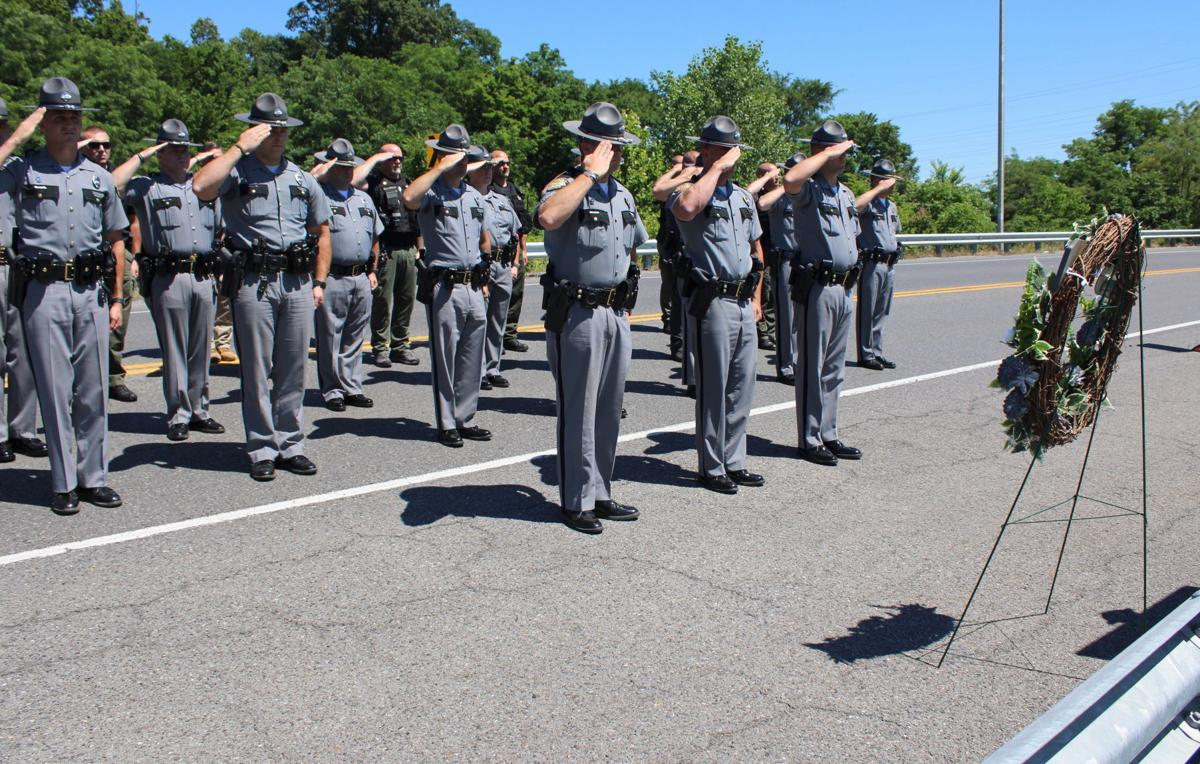 Ceremony honors fallen trooper Chrisman