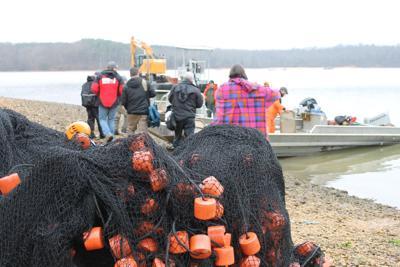 Asian carp netting