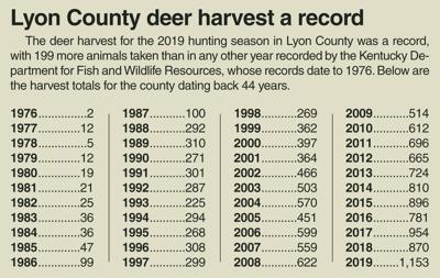 Deer harvest 2019