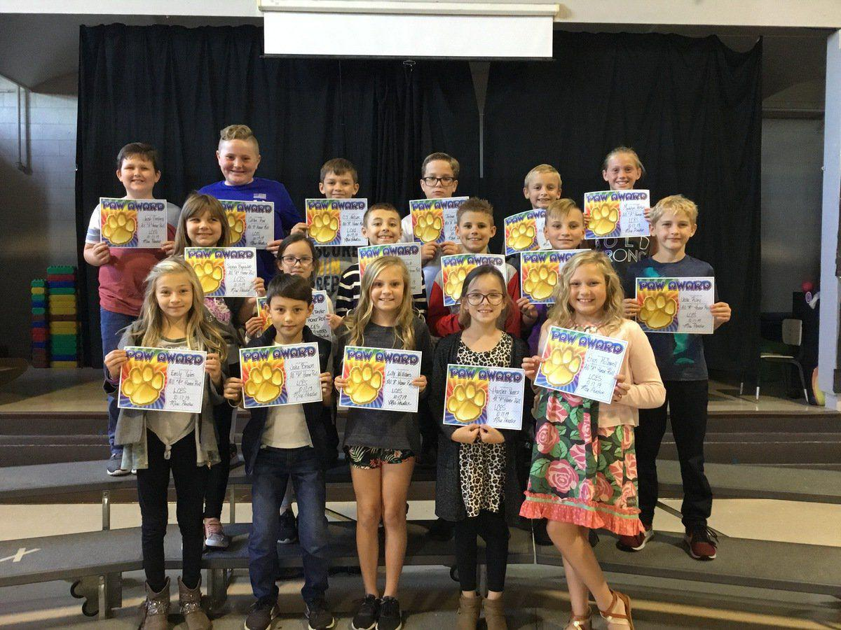 Lyon County Elementary first nine weeks Honor Roll