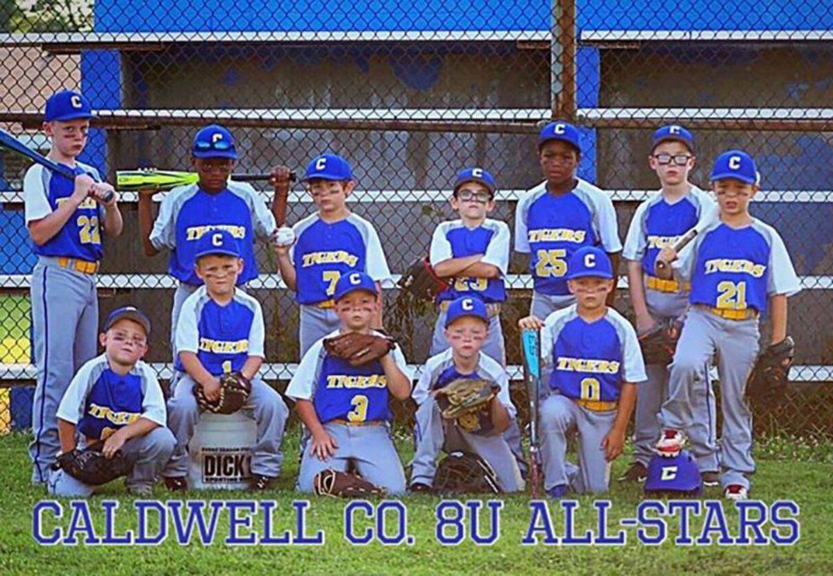 Caldwell County 12U baseball all-stars take runner-up, 8U takes third in Hopkinsville