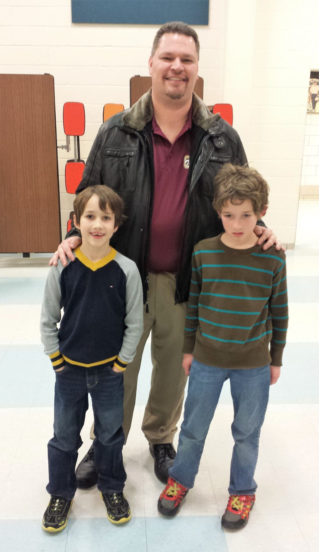 Chris Minerd with young fans