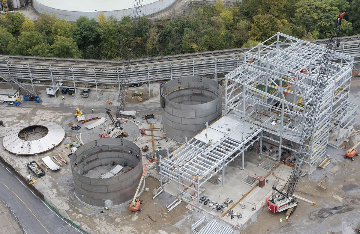 A new FirstEnergy dewatering facility is under construction in Shippingport
