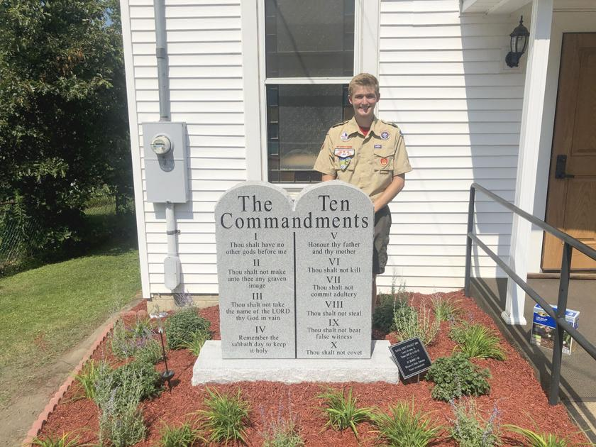 Eagle Scout erects monument at former church | Community