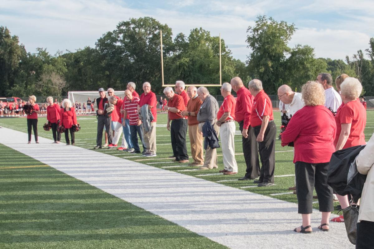 Pottios honored before game
