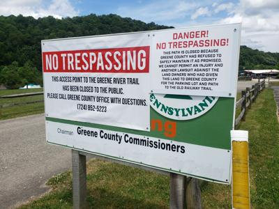 Greene River Trail's northern entrance closed
