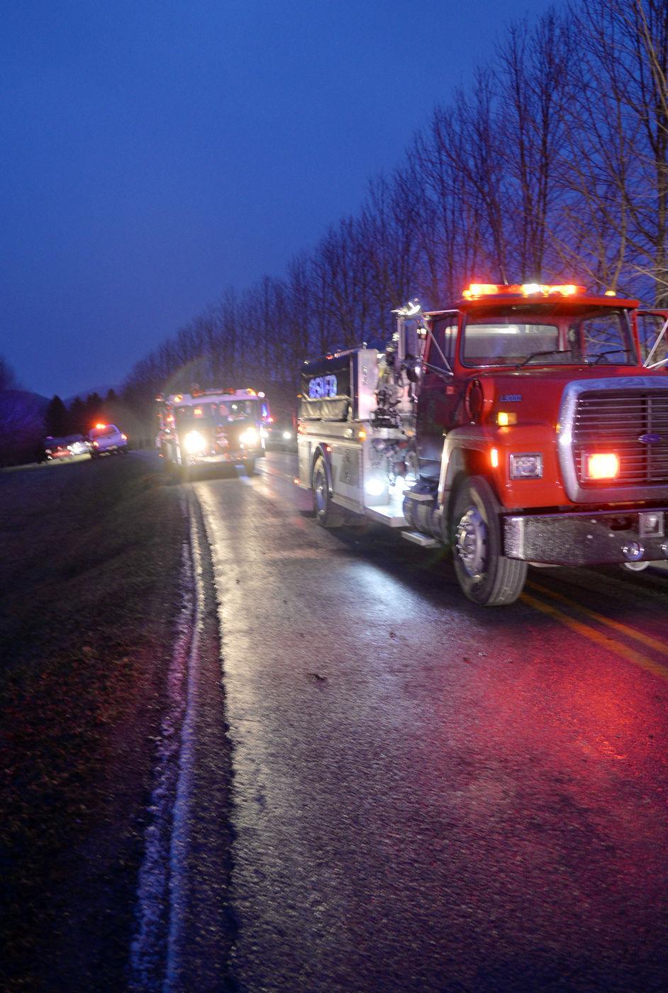 Plane crashes in Kentuck Knob field
