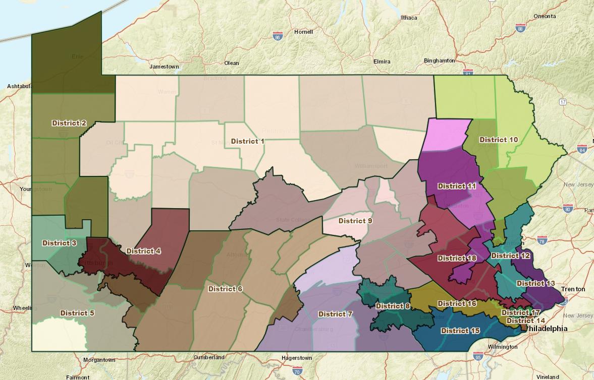 Richardson's voting district map