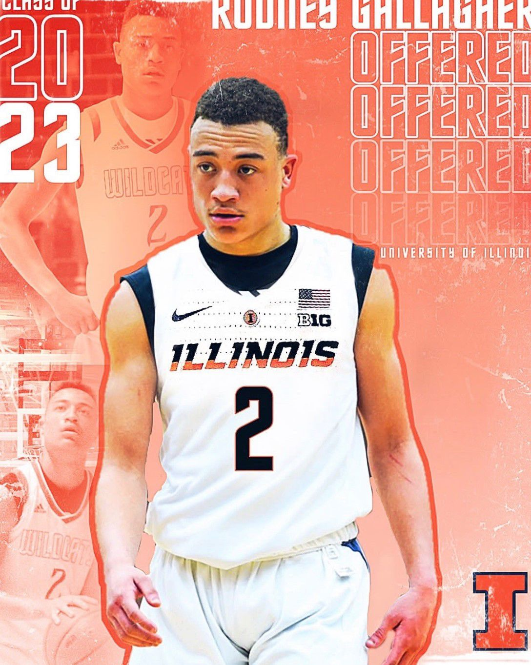 Gallagher being recruited by Illinois