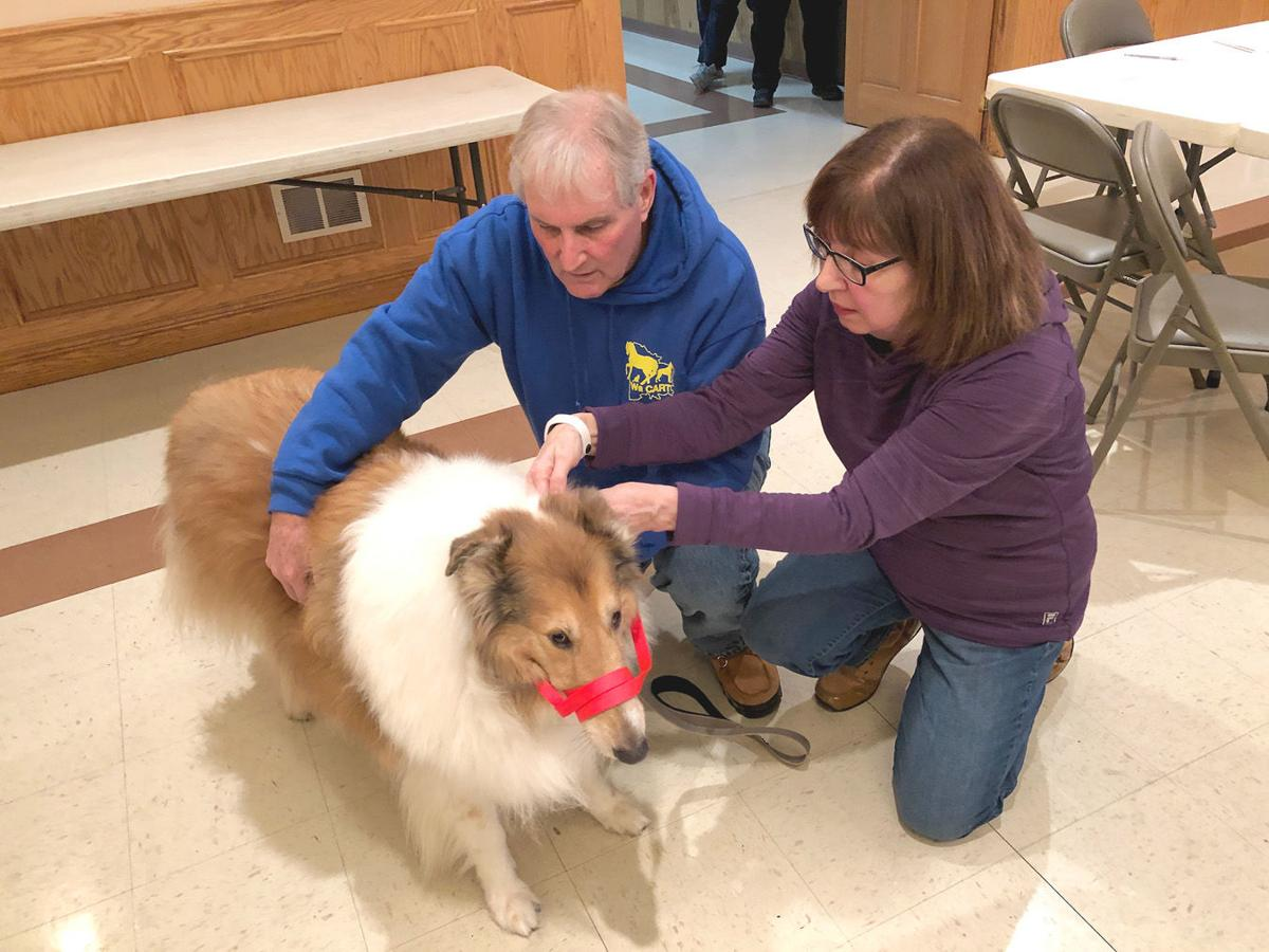 First responders learn small animal rescue procedures during training in Bentleyville