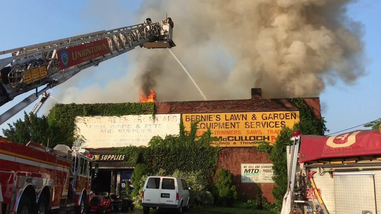 Firefighters battle blaze in Uniontown Tuesday morning | New Today ...