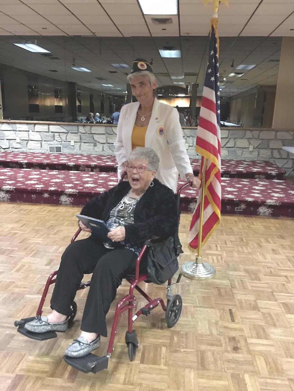 AMVETS Post 103 Ladies Auxiliary honors Korean War veteran