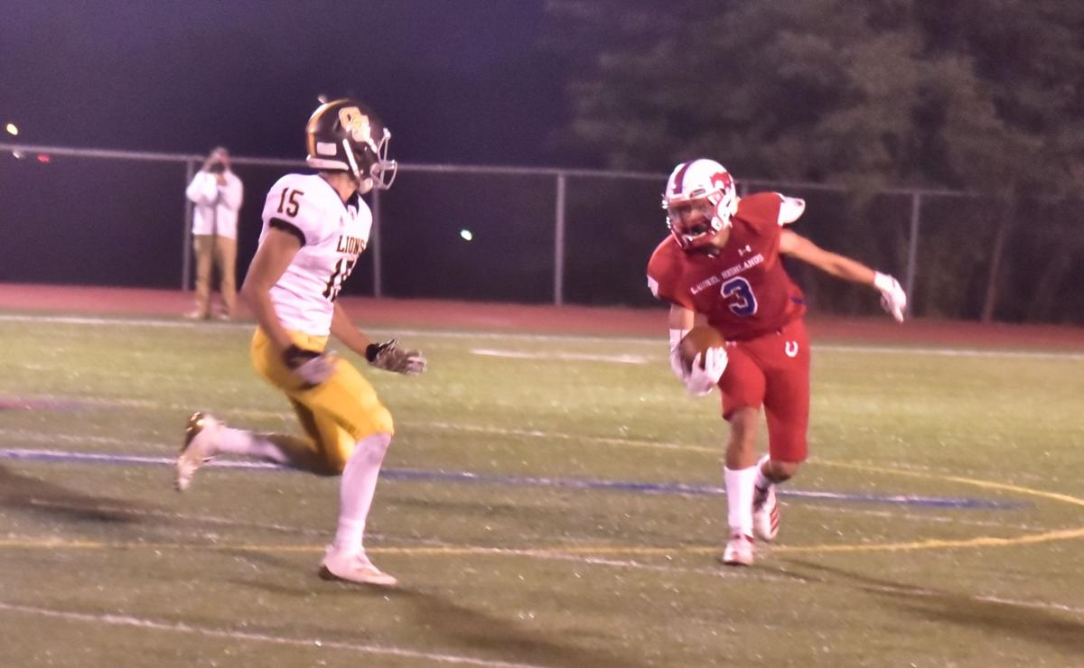 Gallagher has big day in Mustangs' 47-27 setback to Greensburg Salem
