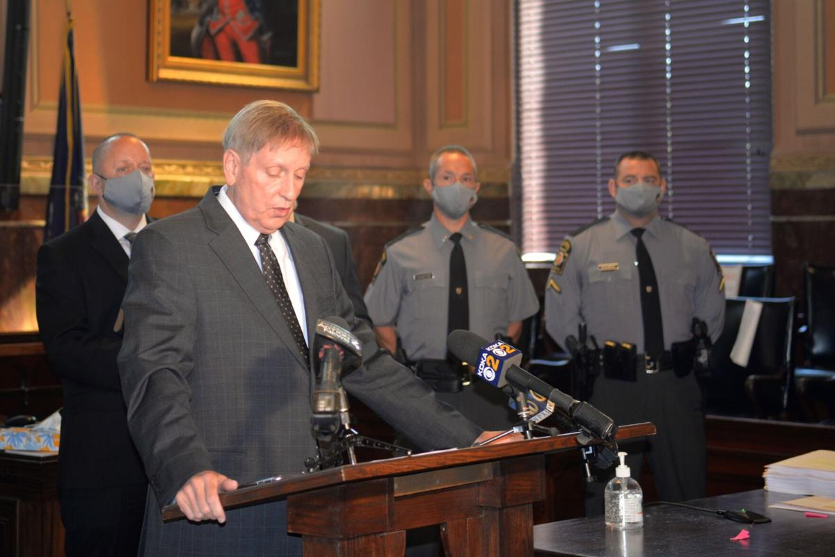 Fayette County District Attorney Rich Bower announces grand jury findings
