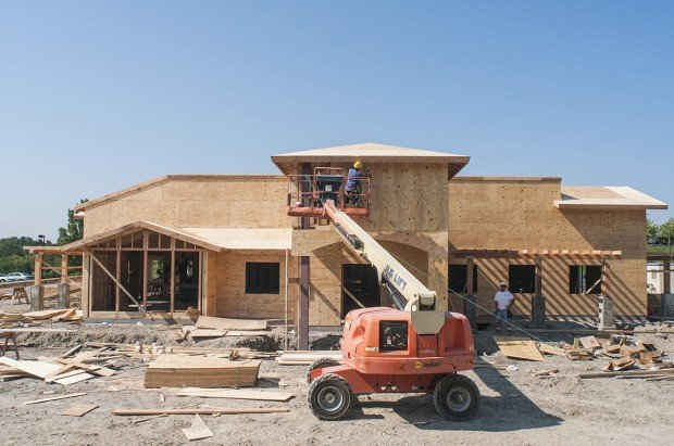 construction work continues on the new olive garden restaurant located on route 40 in south union township - Olive Garden Morgantown Wv