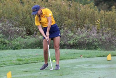 Lohr hits her second tee shot