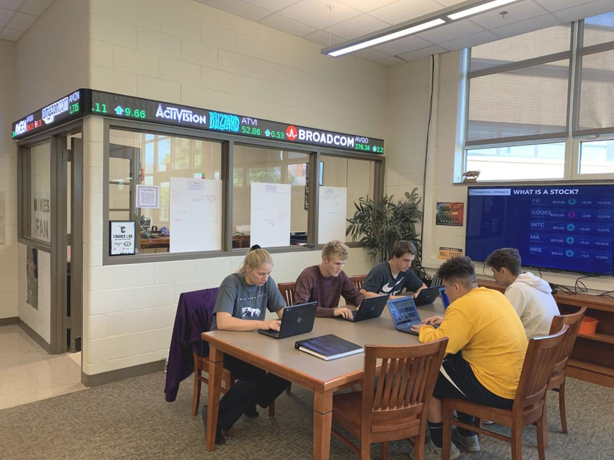 Finance lab installed at Carmichaels