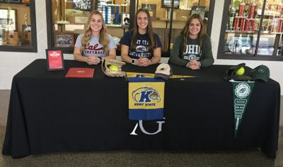 Trio of Lady Colonials sign national letters-of-intent