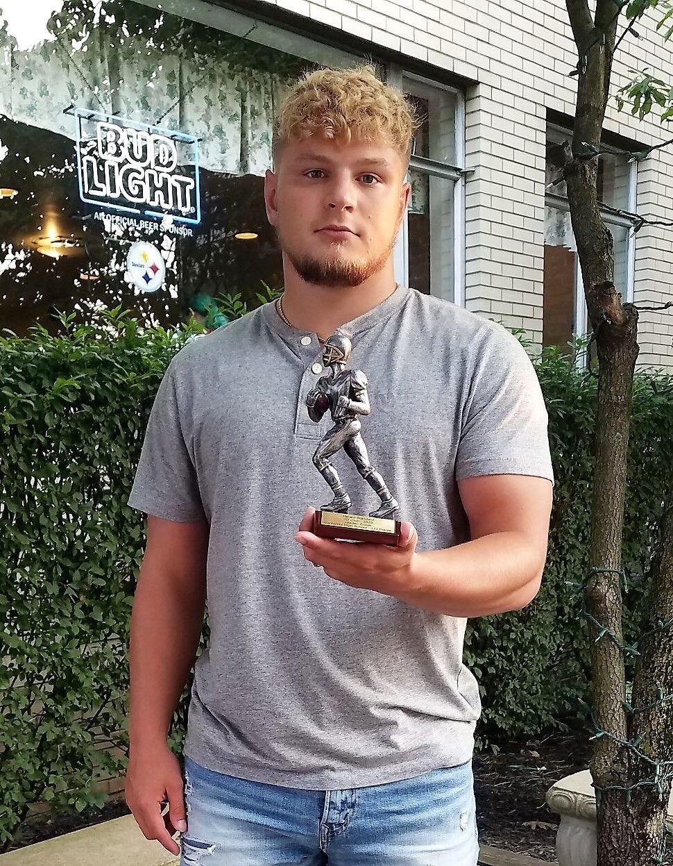 TD Club Jaeden Zuzak trophy