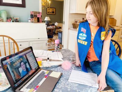 Virtual Girl Scout meetings