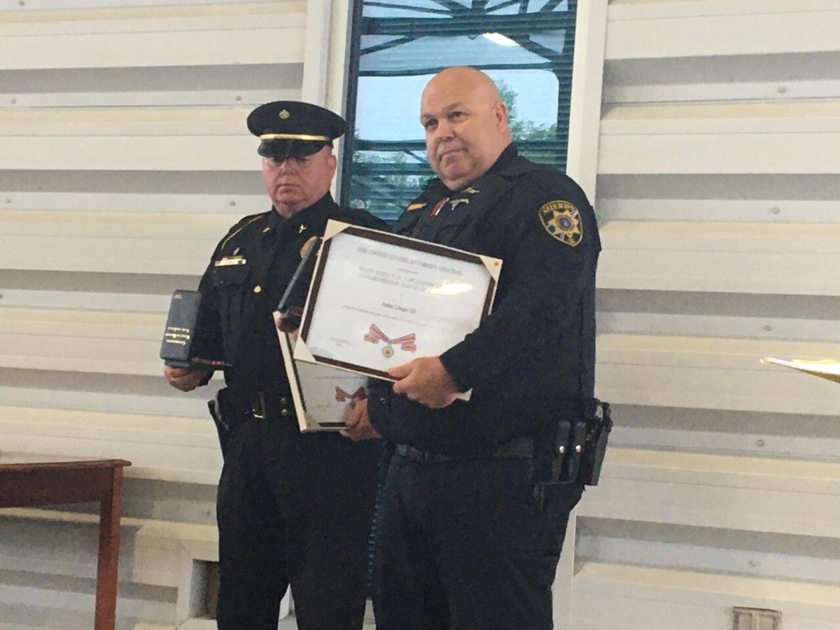 Officers receive Congressional Badge of Bravery